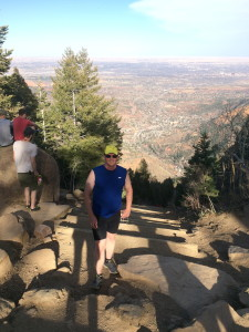 Jeff at the top of the incline