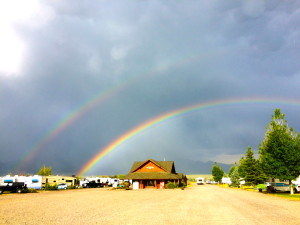 Double Rainbow at Ennis RV Village