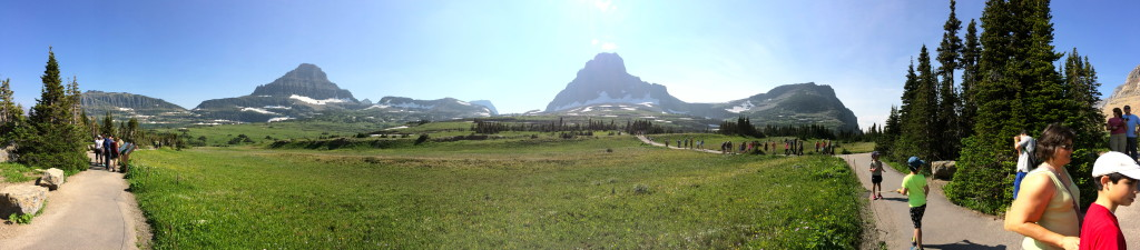 Part of the view from Logan Pass