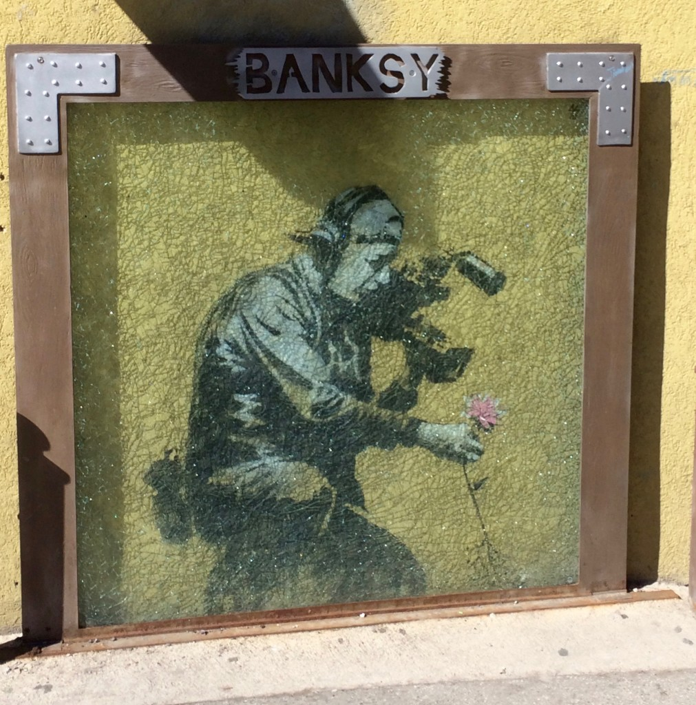 Instead of removing Banksy work they showcase it