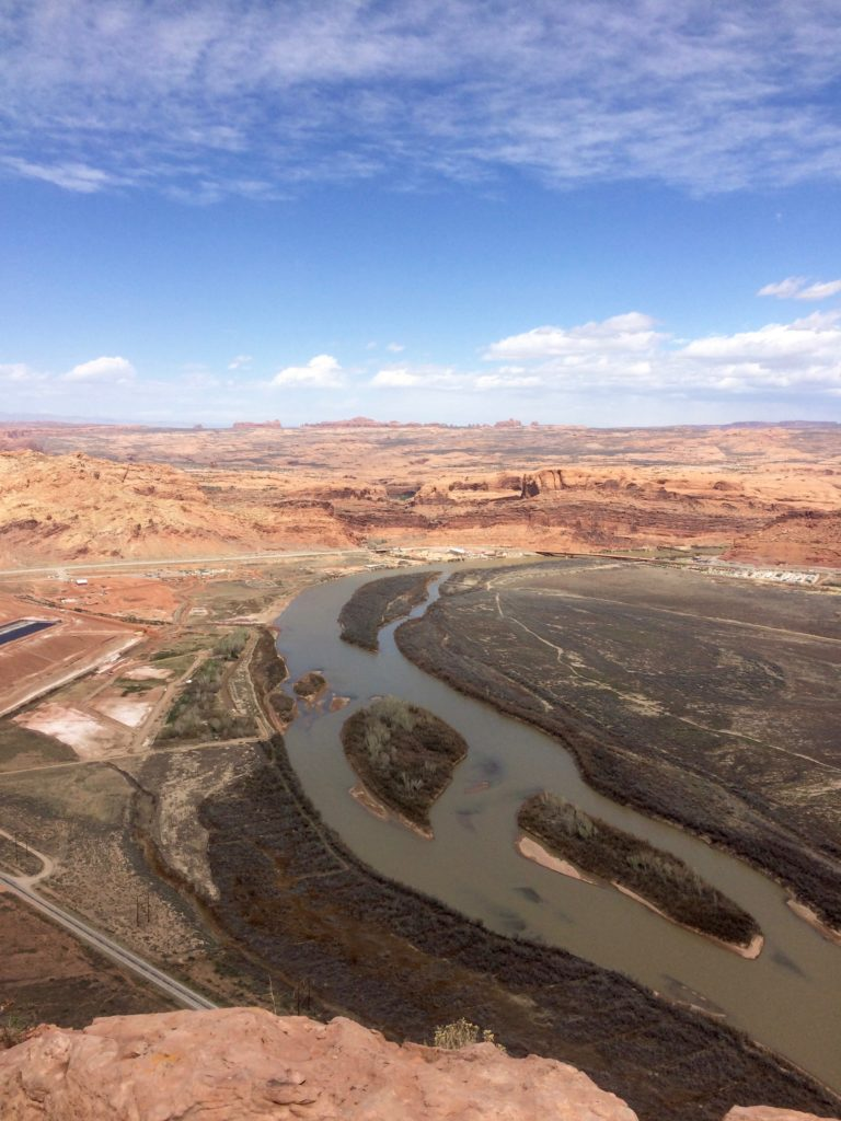 The Colorado River and Arches National Park in the distance