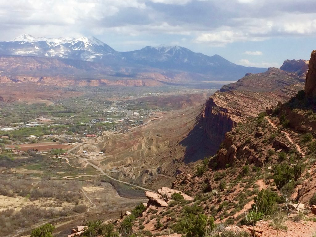 Downtown Moab from Gold Hill
