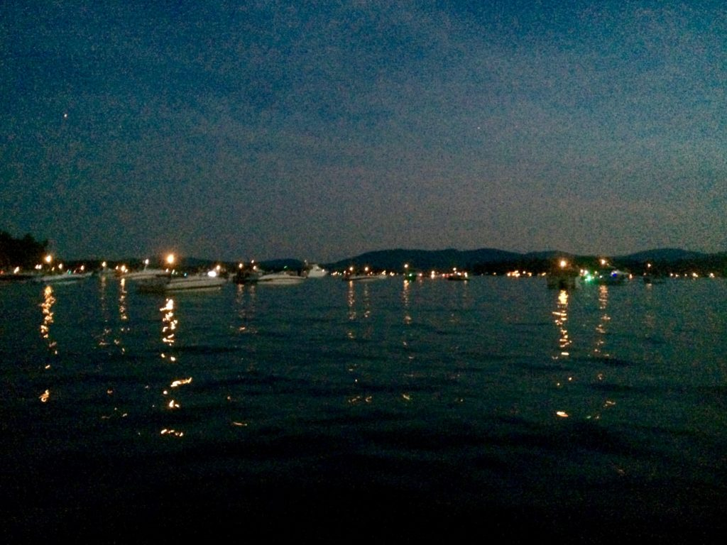 Wolfeboro Bay full of boats for the fireworks