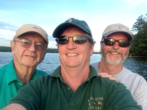 Jim, Jeff and Peter out fishing