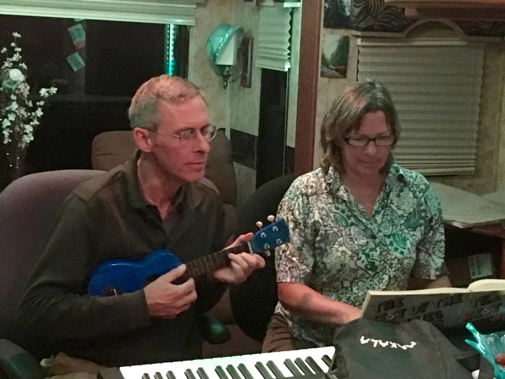 A little music in the RV with my brother, David